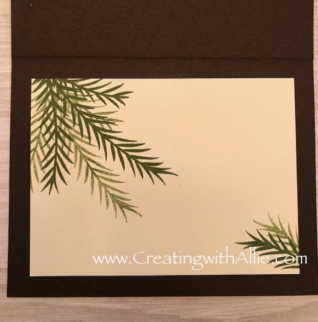 Check out the video tutorial showing you how to make a Christmas card featuring the Christmas Pines stamp set! You'll love how quick and easy this is to make! www.creatingwithallie.com #stampinup #alejandragomez #creatingwithallie #videotutorial #cardmaking #papercrafts #handmadegreetingcards #fun #creativity #makeacard #sendacard #stampingisfun #sharewhatyoulove #handmadecards #friendshipcards