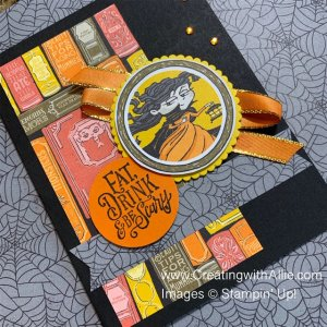 Make a quick & easy Halloween card using sketches