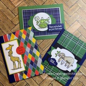 How to make Three (encouragement) masculine handmade cards