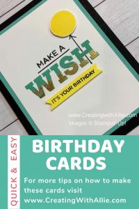 Easy Birthday Handmade cards