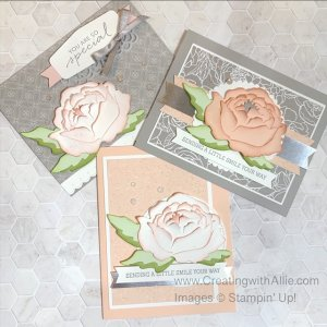 Three Beautiful Handmade cards for your friends