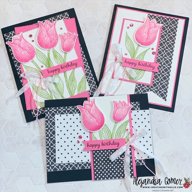Handmade Cards Using 2021 Christmas Dsp From Stampin Up Beautiful Birthday Handmade Cards Creating With Allie